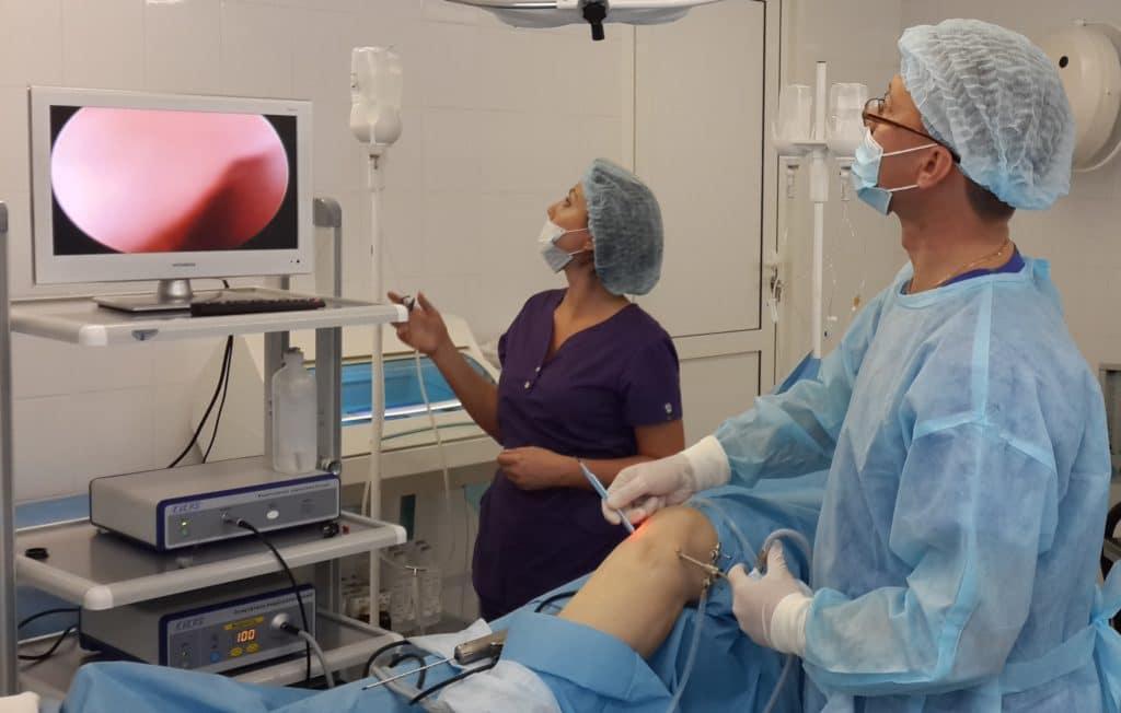 Проведение артроскопии коленного сустава