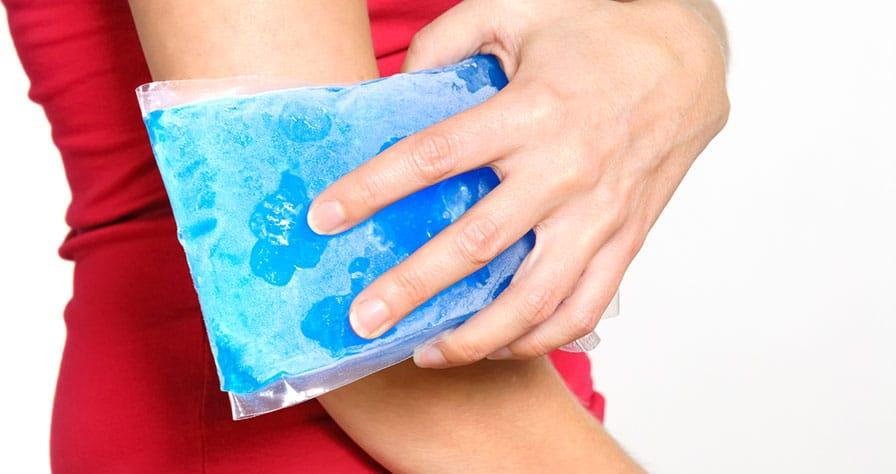 лед для сужения мелких кровеносных сосудов