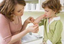 Ушиб руки у ребёнка
