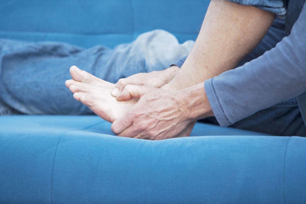Лёгкий вывих ноги или стопы