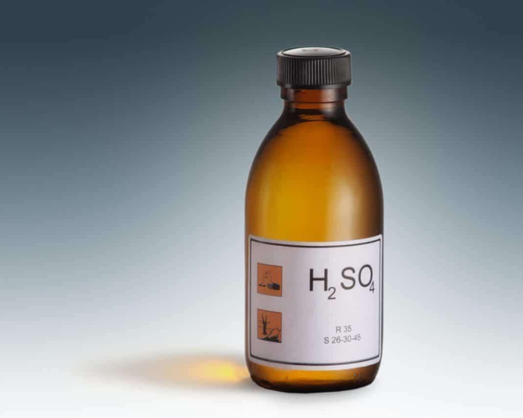 химический ожог серной кислотой