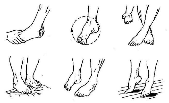 Упражнения для голеностопного сустава